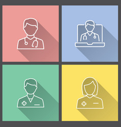 doctor - icon for graphic and web design vector image