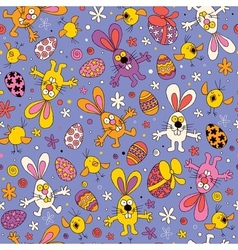 Easter pattern 2 vector