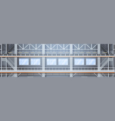 Empty factory conveyor automatic assembly line vector