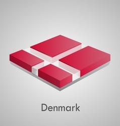 european flags set - denmark vector image