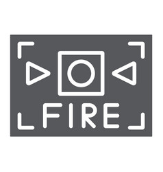 Fire alarm glyph icon safety and equipment fire vector