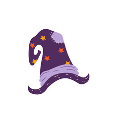 flat halloween magic witch hat vector image