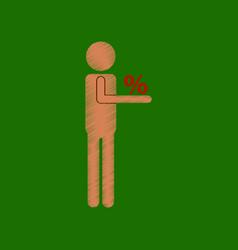 Flat shading style icon stick figure human vector