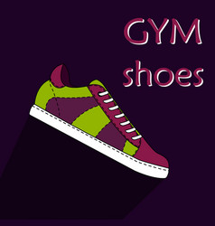 gym shoes vector image