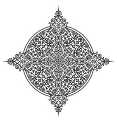 Hand drawing zentangle element vector image
