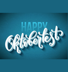happy oktoberfest poster beer festival decoration vector image