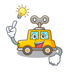 Have an idea clockwork toy car isolated on mascot vector