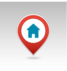 Home pin map icon map pointer markers vector