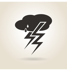 Icon thunderstorm vector