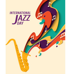 International jazz day background vector