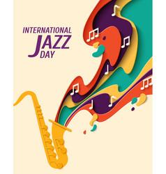 international jazz day background vector image