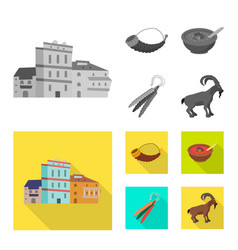 Isolated object culture and sightseeing logo vector