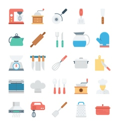 Kitchen Colored Icons 1 vector image