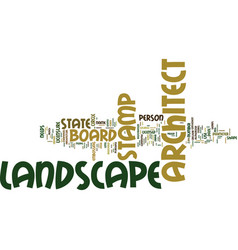 landscape architect stamp text background word vector image