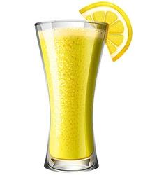 Lemon mocktail smoothie in glass vector