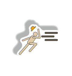 Man running in storm vector