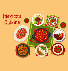 mexican cuisine traditional lunch icon design vector image