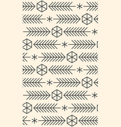 Minimalistic linear new year pattern winter vector