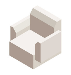 modern armchair icon isometric style vector image