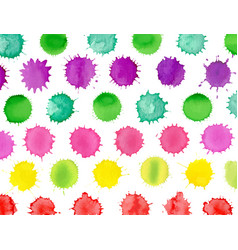 multicolored watercolor splash background vector image
