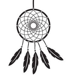 native american indian talisman dreamcatcher vector image