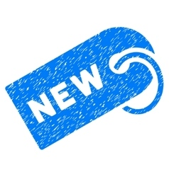 New Tag Grainy Texture Icon vector