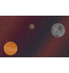 Night scenery star and planet vector