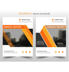 orange triangle annual report leaflet brochure vector image