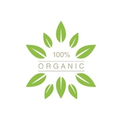Organic Product Logo With Spiky Leaves vector