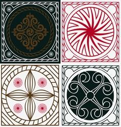 ornamental scuares vector image