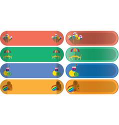 oval summer banner set vector image