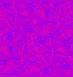 pattern from plant blue and pink stems and vector image