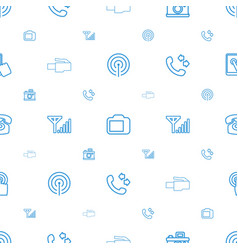 phone icons pattern seamless white background vector image
