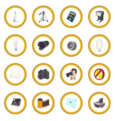 Photography set icon circle vector