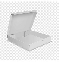 pizza box icon realistic style vector image
