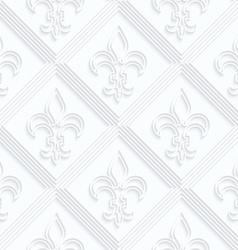 Quilling paper Fleur-de-lis with double grid vector image
