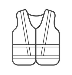 Safety vest icon vector