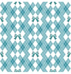 seamless hand drawn pattern with bows ribbon vector image