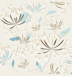 seamless pattern floral wallpaper vector image