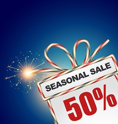 Seasonal sale discount vector