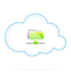 Shared Cloud Folder vector image