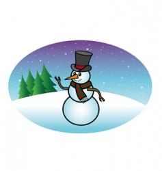 snowfall snowman vector image
