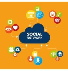 Social network and media vector