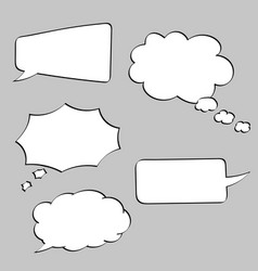 speech bubbles blank signs on gray background vector image