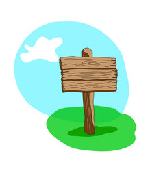 square shape cartoon wooden signpost vector image