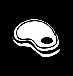 steak icon design vector image