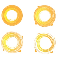 Swirly grunge sunburst vector image