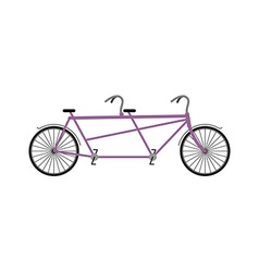 Tandem Bicycle isolated on white background vector image