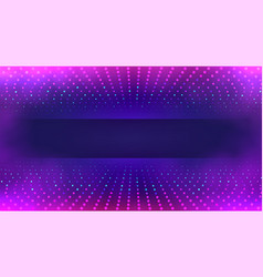 tech background with colorful particles data vector image