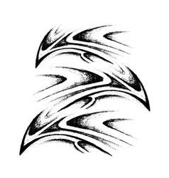 Tribal tattoo sketch vector